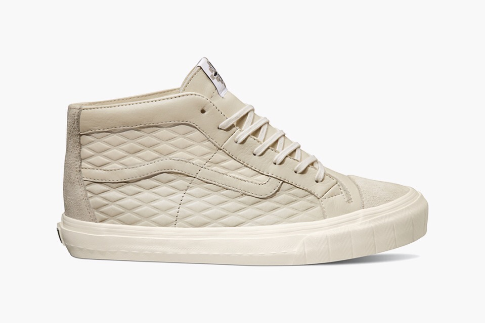 "b5fe6b9f41 ... addition to Vans Vault s latest Taka Hayashi-designed ""TH Huarache""  pack comes in the form of a mid-top version of the brand s iconic Sk8-Hi  sneaker."