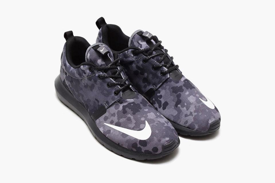 Nike Roshe Courir Sweat À Capuche Fb Camo Noir