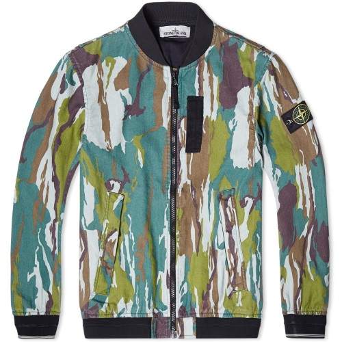 Stone Island SS15 Camo Bomber Jacket | The Style Raconteur